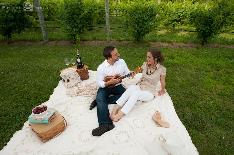 Laurita winery engagement photos nj engagement photographer couple on picnic at laurita winery engagement photos junglespirit Images