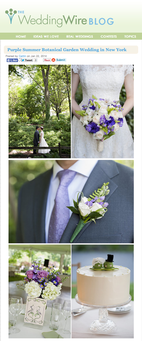 Wedding Featured on WeddingWire | Queens Botanical Garden Wedding Photos | NYC Wedding Photographer