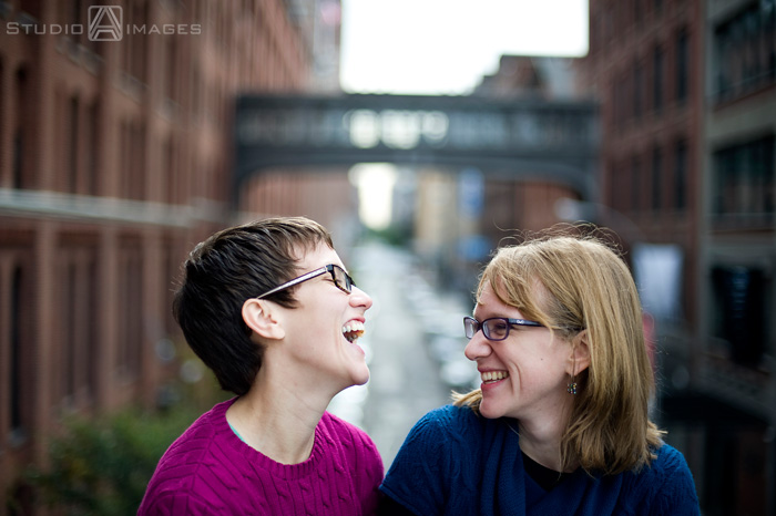 same sex wedding, gay wedding, lesbians, nyc wedding photographer, The High Line, NYC engagement photos, NYC engagement