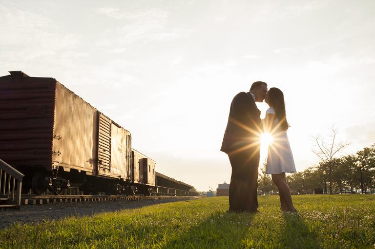 Liberty State Park engagement photos | Jersey City wedding photographer