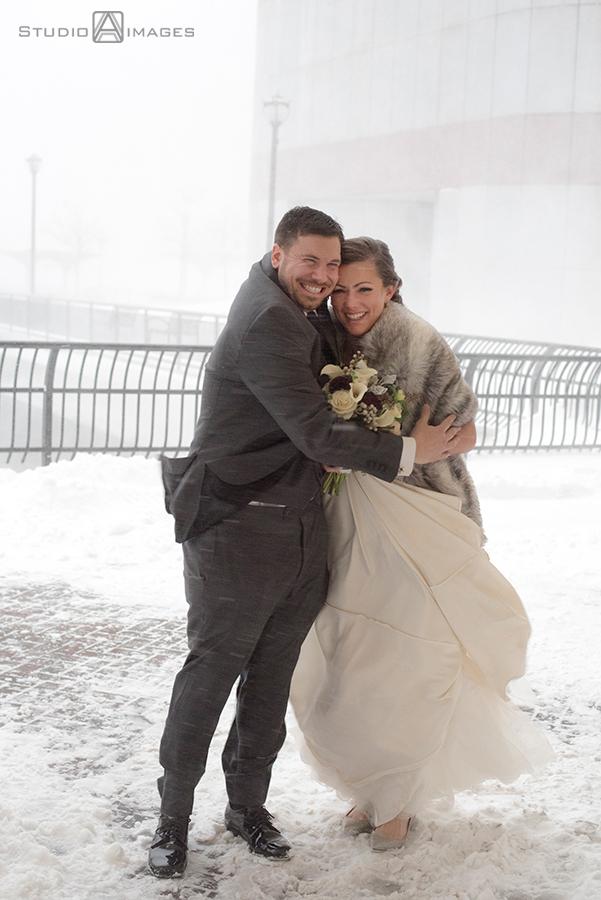 Blizzard Wedding Photos | Hyatt Regency Jersey City Wedding Photos