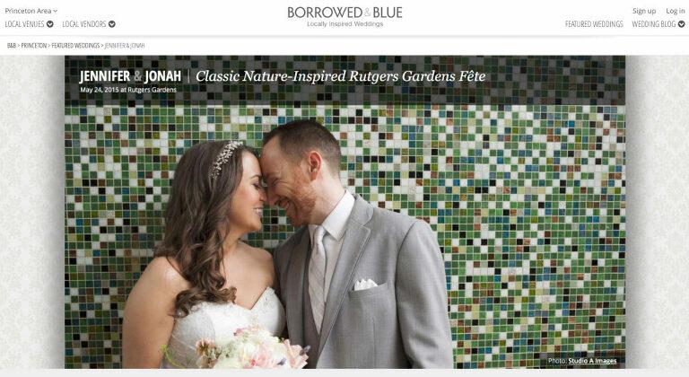 Wedding Featured on Borrowed and Blue   Rutgers Garden Wedding Photos   New Jersey Wedding Photographer