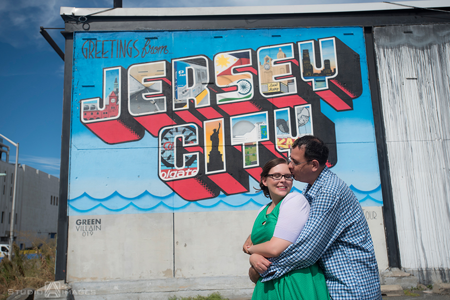 Jersey City murals engagement photos, Jersey City murals, Jersey City engagement photos, Jersey City wedding photographer, Welcome to Jersey City