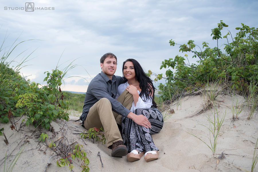 Sandy Hook Engagement Photos | Jersey Shore Wedding Photographer | Courtney + Sal