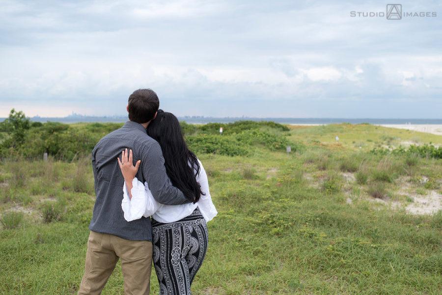 Sandy Hook Engagement Photos | Jersey Shore Wedding Photographer | Courtney + Sal