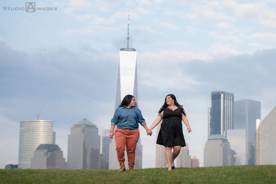 Liberty State Park Engagement Photos | Jersey City Wedding Photographer | Jenni + Abby