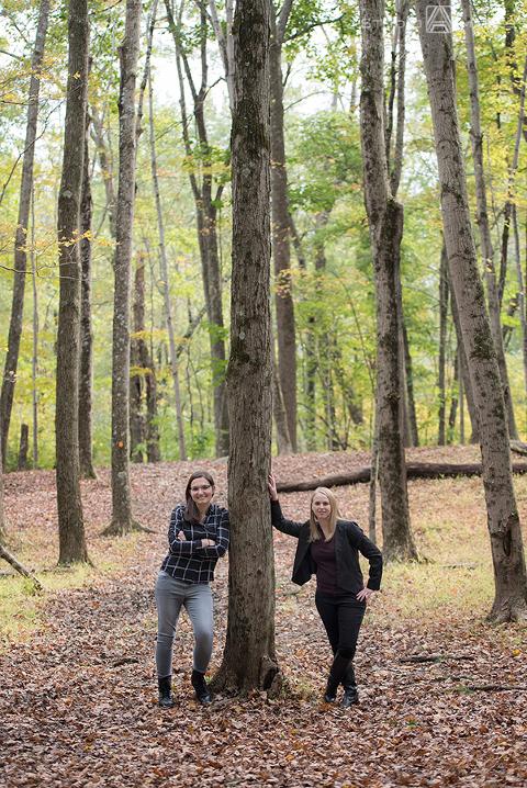 Ramapo Valley County Reservation Engagement Photos | NJ Wedding Photographer | Elise + Tess