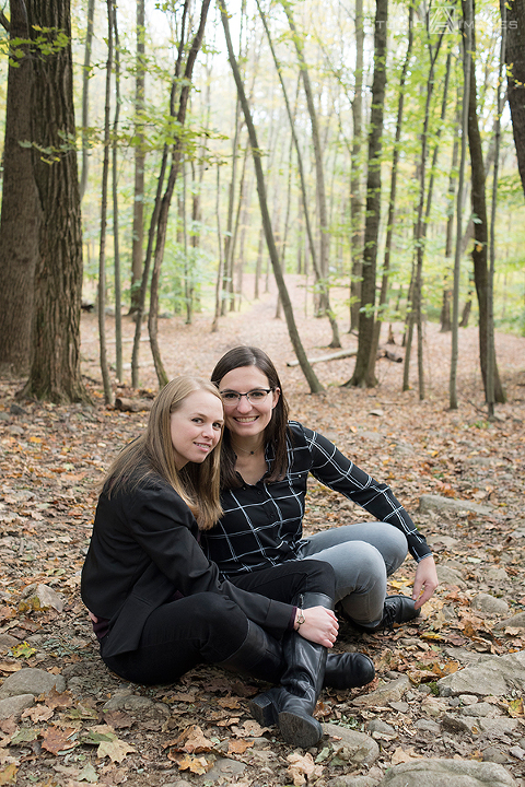 Ramapo Valley County Reservation Engagement Photos | NJ Wedding Photographer | Elise + Tess