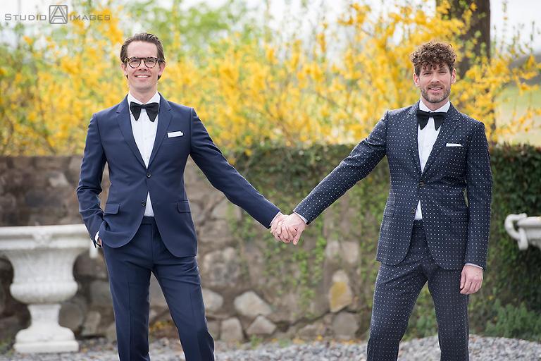 Hotel du Village Wedding Photos | New Hope Wedding Photographer | LGBTQ wedding photographer