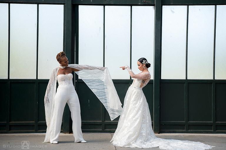 Epic Liberty House Wedding Photos | Jersey City Wedding Photographer | Lesbian wedding | LGBTQ wedding photographer