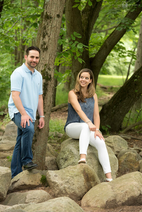 Ramapo Valley County Reservation Engagement Photos | New Jersey Wedding Photographer | Christina + Eddie