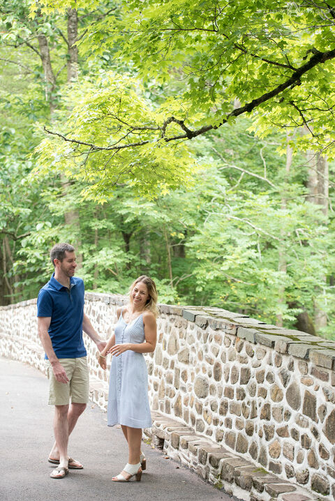 Bowman's Hill Wildflower Preserve Engagement Photos by Bucks County Wedding Photographer