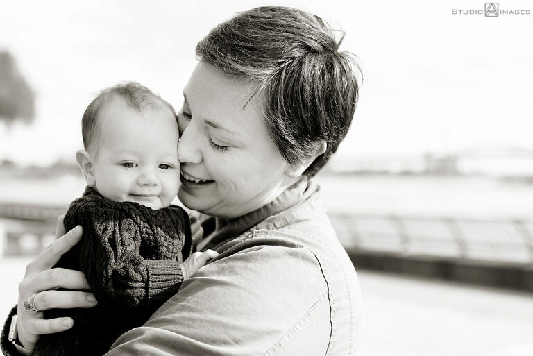 mother and son family photos at Carl Schurz Park
