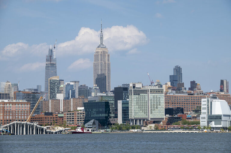NYC skyline showing love during the Covid-19 Pandemic