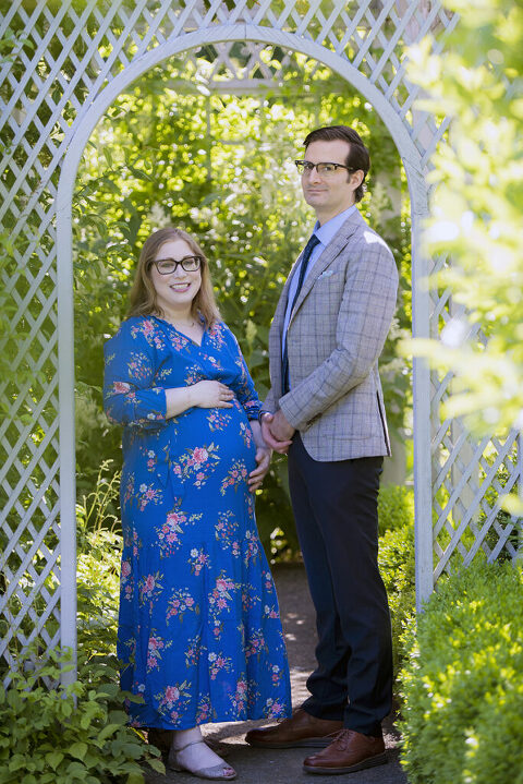 Expectant parents during Snug Harbor Maternity Session